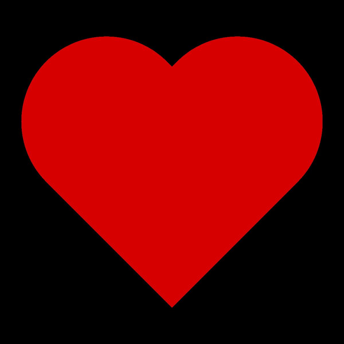 Stregtegning af et rødt hjerte